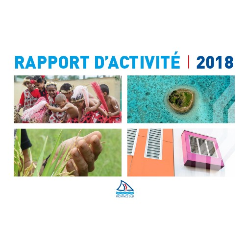 Rapport d'activité Province Sud 2018